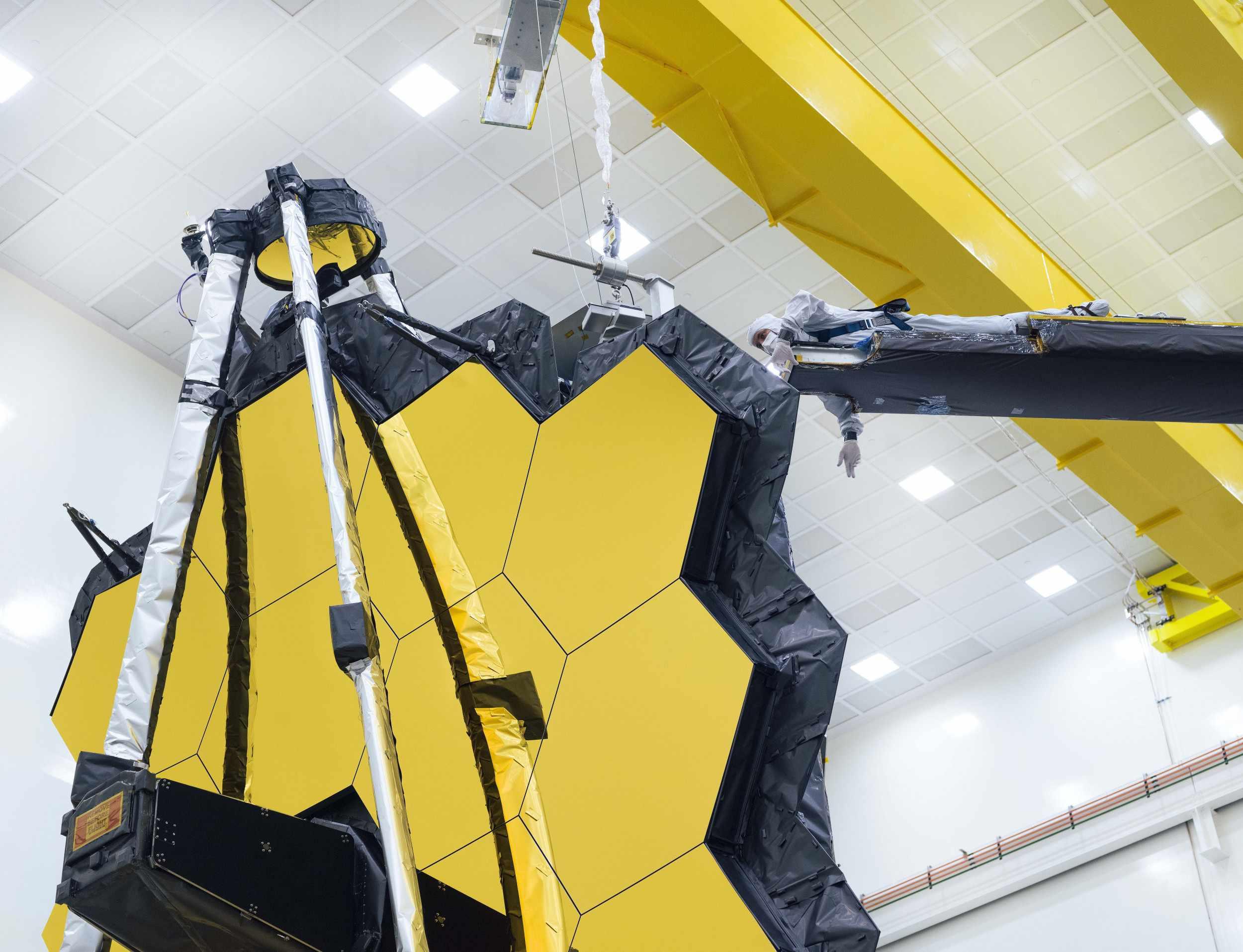 telescope mirror sun nasa james