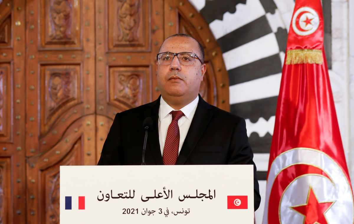 tunisia premier criticises health coronavirus