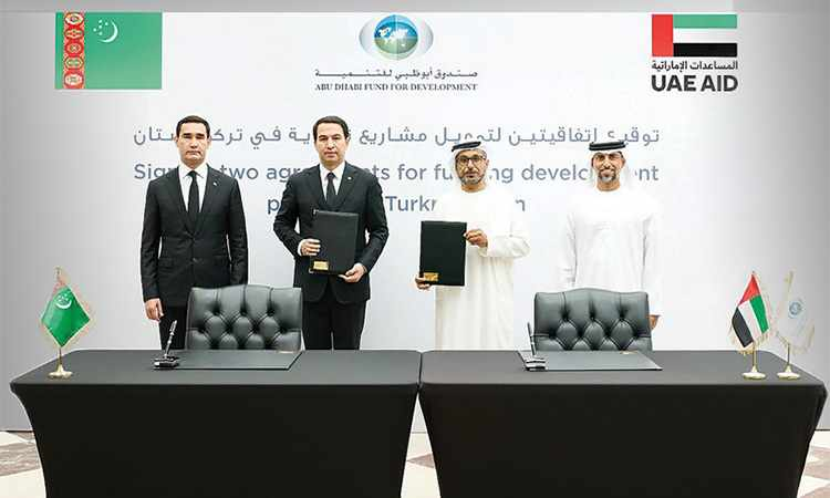 turkmenistan adfd agreements development signed