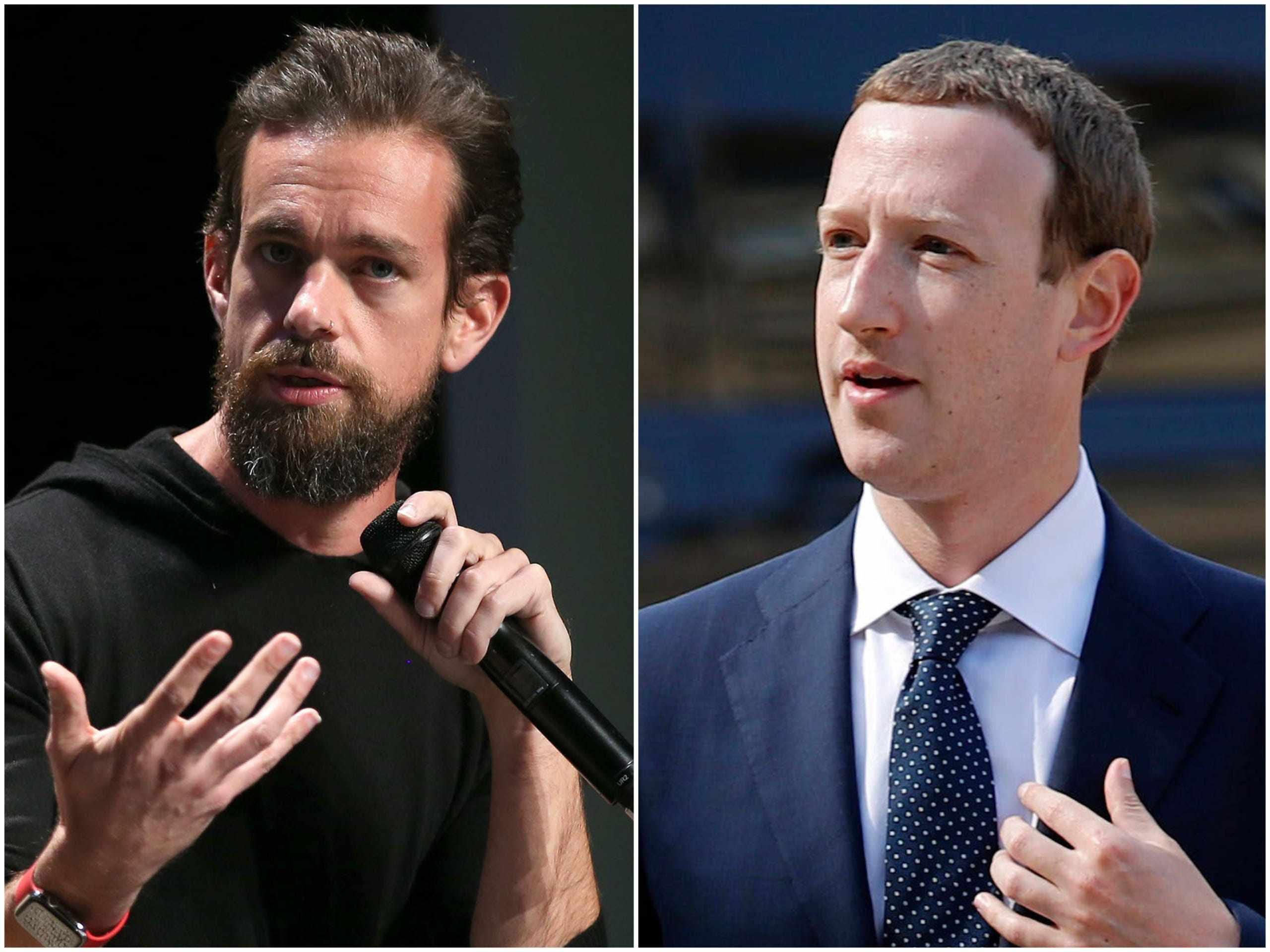 twitter market trump platforms facebook