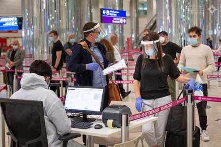 uae covid infection rates travellers