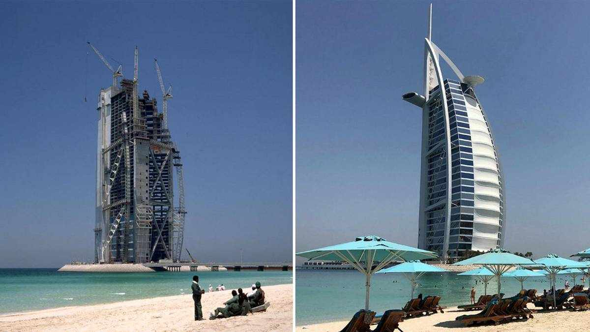 uae dubai world burj arab
