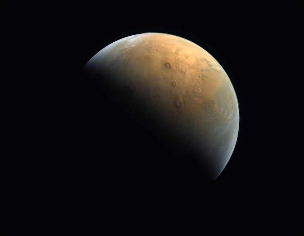 uae mars image probe captured