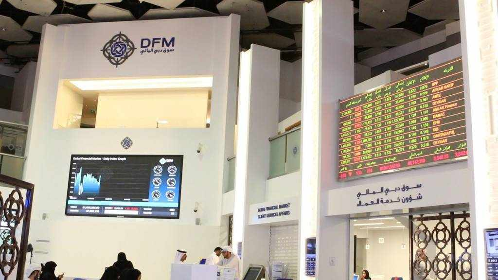 uae stock markets varied note