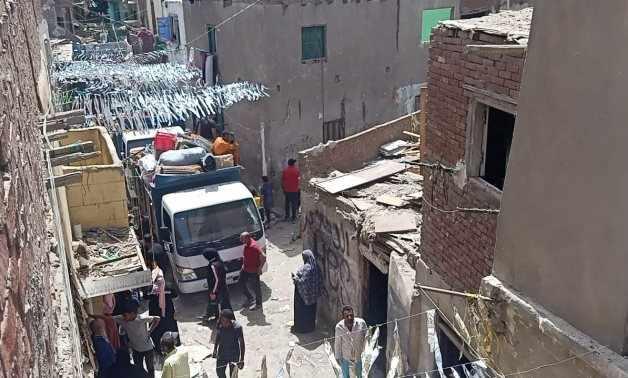 units residents batn baqara slum