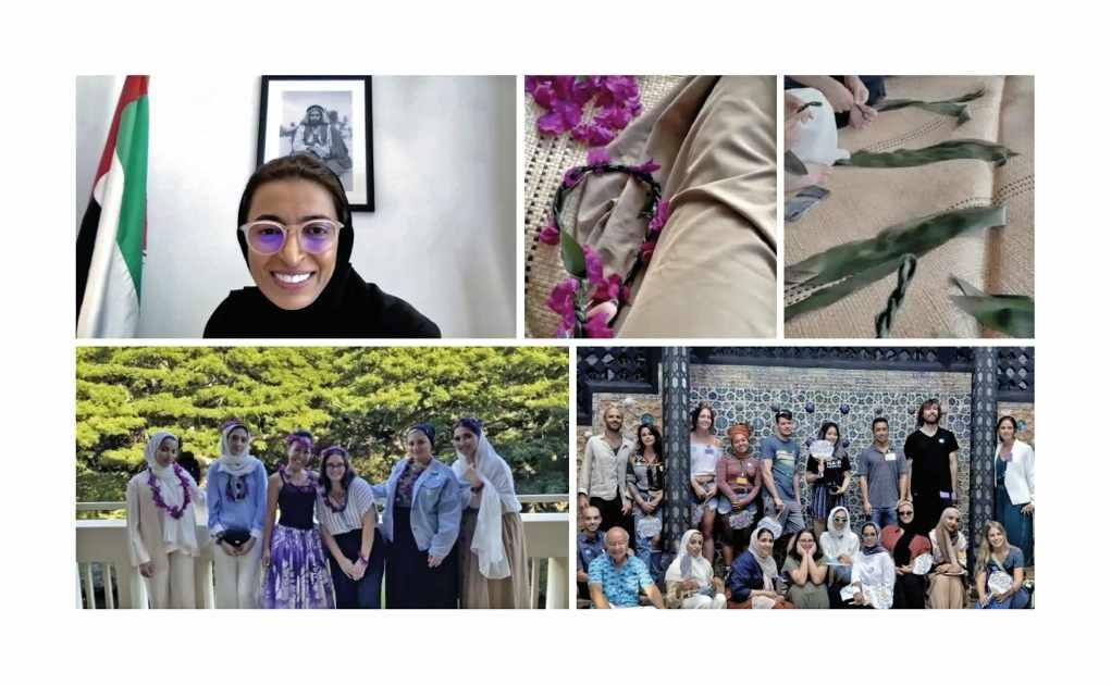 university zayed students craft experience