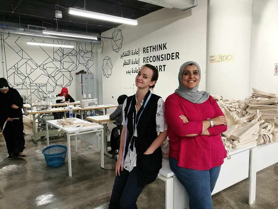 women startup tote bag transform